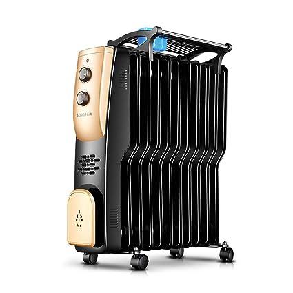 Heater GJM Shop Calentador De Radiador De Aceite Tipo S 11 Piezas Sobrecalentar & Protección contra