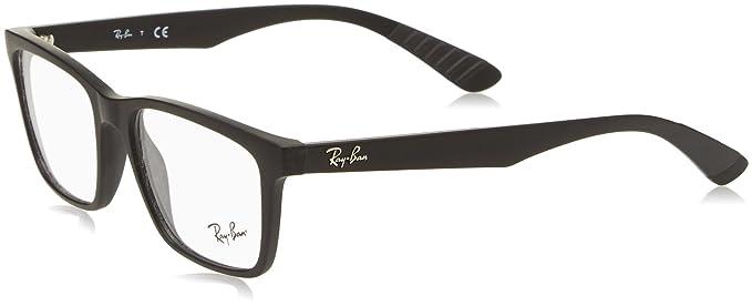 RAYBAN 0rx 7025 2077 55 Monturas de gafas Matte Black Hombre ...