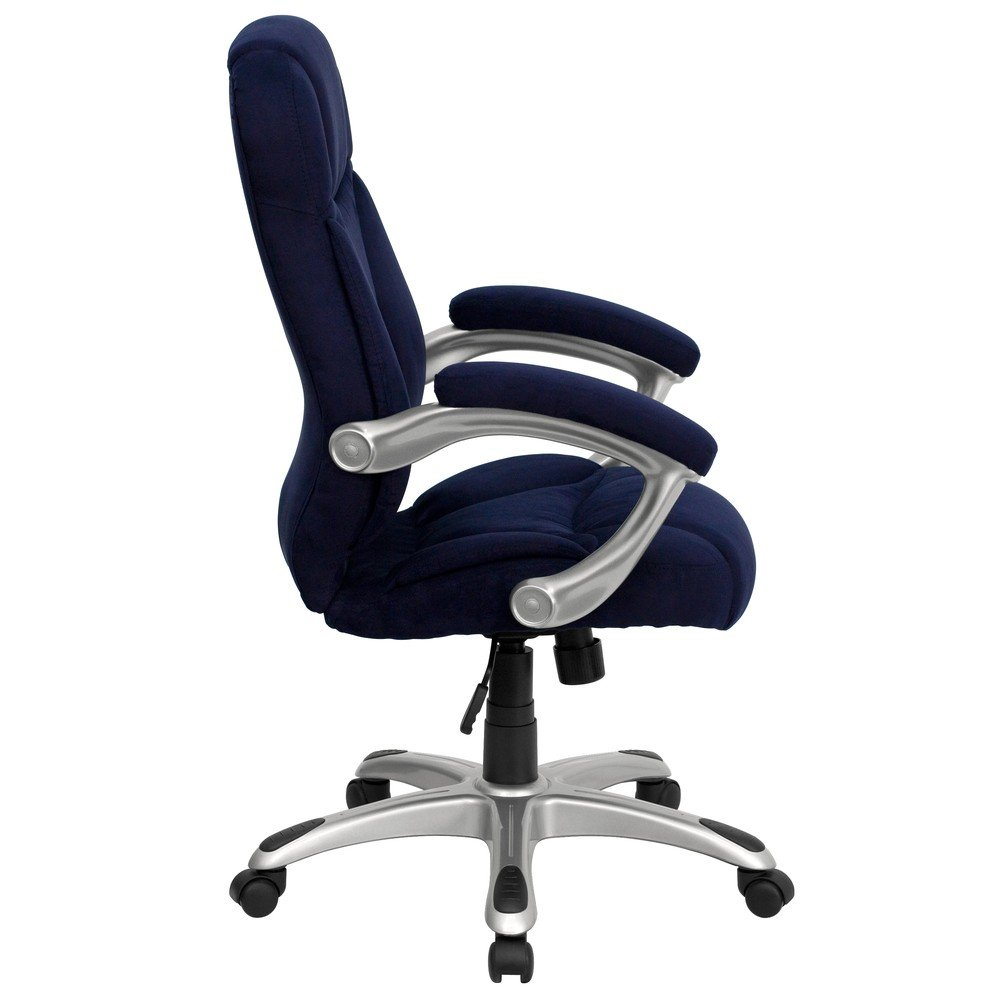 amazoncom flash furniture high back navy blue microfiber contemporaryexecutive swivel chair with arms kitchen  dining. amazoncom flash furniture high back navy blue microfiber