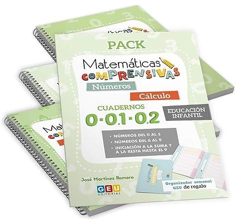 Pack Matemáticas Comprensivas para EDUCACIÓN INFANTIL: Cuadernos Repaso NÚMEROS y CÁLCULO Niños de 3 a 5 años: Amazon.es: José Martínez Romero: Libros