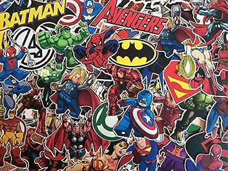 Aufkleber Super Helden Marvel Dc Comics X Men Batman
