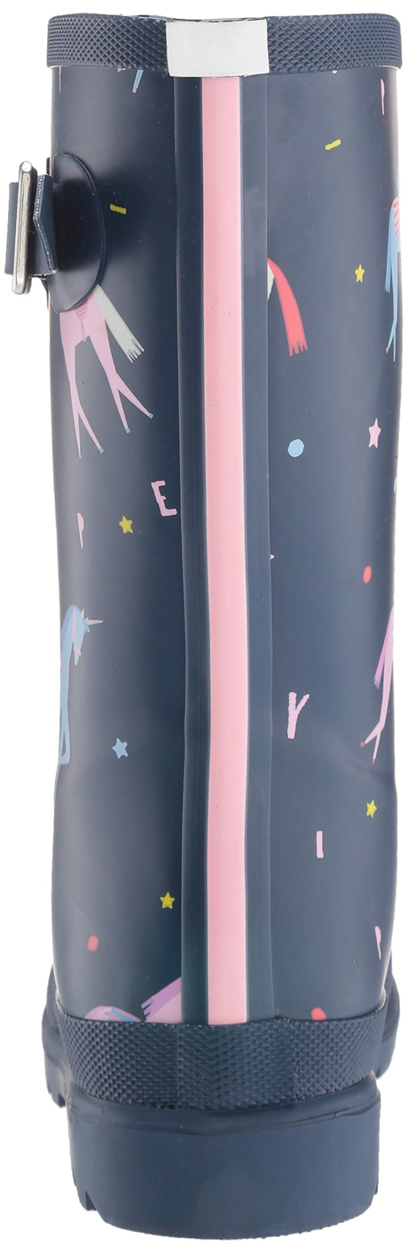 Joules Girls' JNR Welly Print Rain Boot, Blue Unicorn, 3 M US Little Kid by Joules (Image #2)