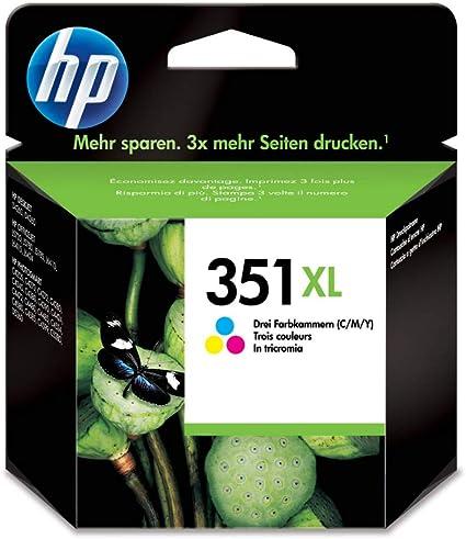 Hp 351xl Dreifarbige Original Tintenpatrone Mit Hoher Reichweite Cb338ee Uus Bürobedarf Schreibwaren