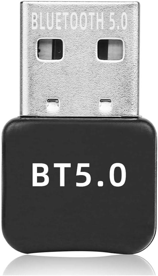 Yizhet Adaptador de Bluetooth 5.0 Bluetooth USB PC Bluetooth Transmisor y Receptor para PC con Windows 7/8/8.1/10, Plug and Play Compatible con Auricular/Altavoz/Ratón/Teclado