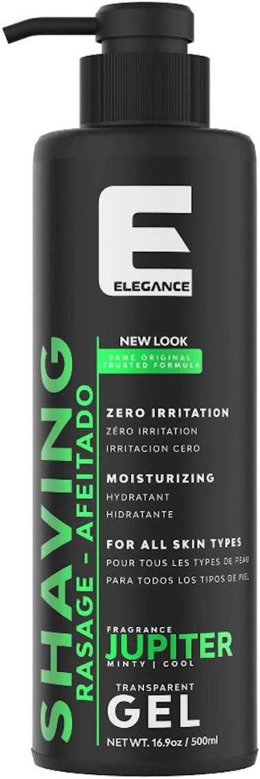 Élégance Gel de afeitar transparente - Rápido, suave y limpio para hombres, fragancia Júpiter - 500 ml