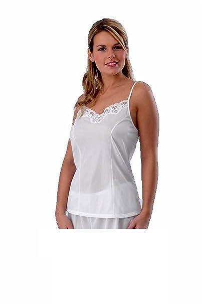 04d1f2d99eb798 Ladies Womens Camisole top Vest Satin cami White Plus Size 12 14 16 18 20  22 24 26  Amazon.co.uk  Clothing