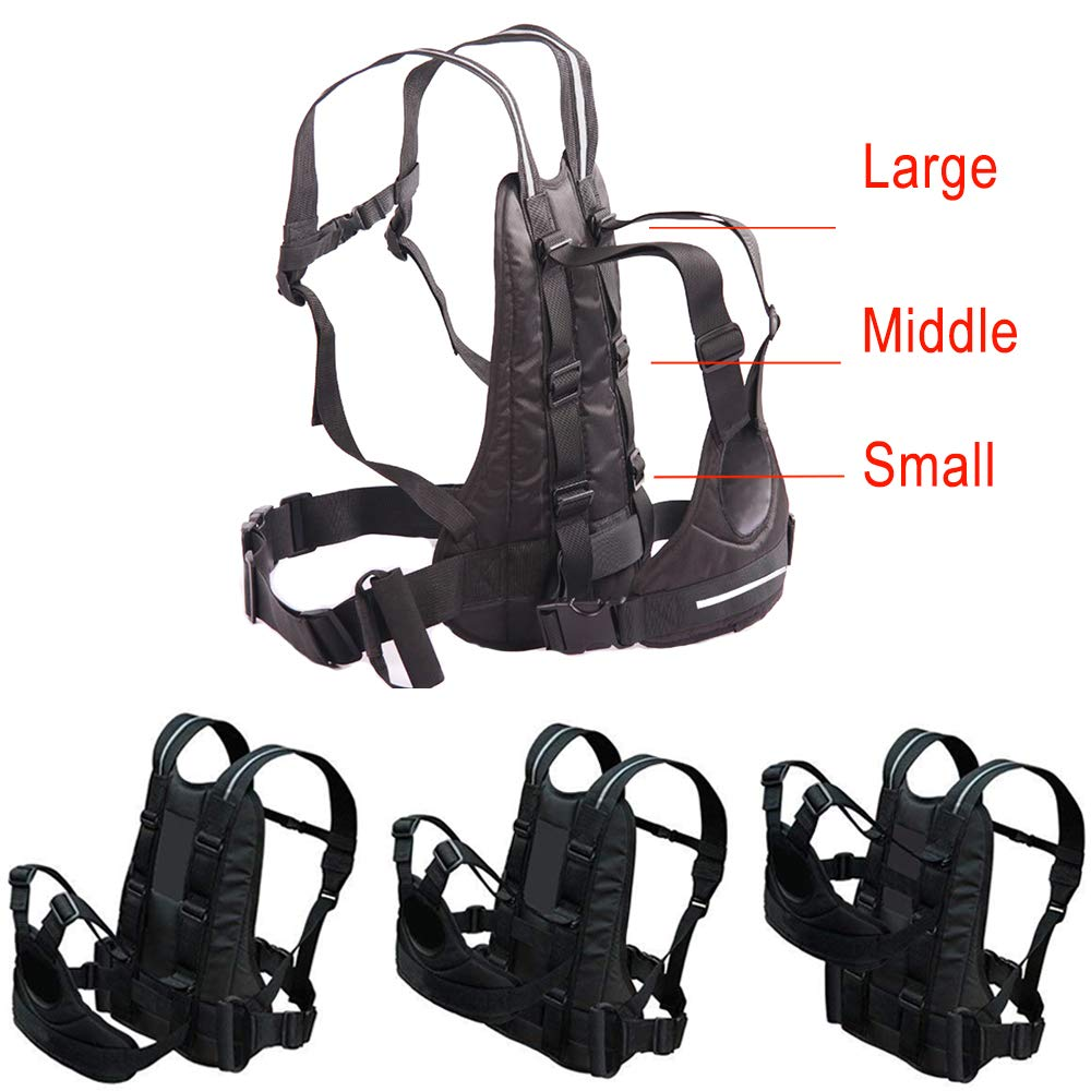 Jolik Child Motorcycle Harness Adjustable with Two Handles Breathable Material in Black