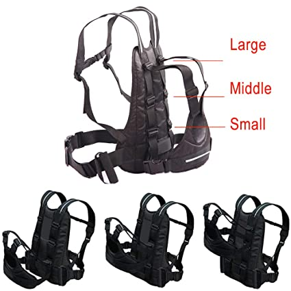 Black Jolik Child Safety Harness Reflective Child Motorcycle Harness Adjustable Safety Child Harness with Two Handles Breathable Material