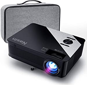 Projector, Nasin Na6000 Native 1080P Full HD Projector, 6500 Lumens Projector for Outdoor Movies, Home Theater, Office Presentation, Compatible with TV Stick, Roku, Laptop, Smart Phone, PS4, Xbox