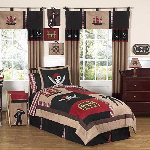 Sweet Jojo Designs 3-Piece Treasure Cove Pirate Children's Full/Queen Boys Bedding Set