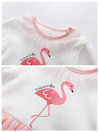 a530ed65ab918 Bébé Filles Barboteuses Tutu Grenouillères Footies Pyjama Combinaisons en Coton  Enfant Outfits Vêtements de Naissance  Amazon.fr  Bébés   Puériculture