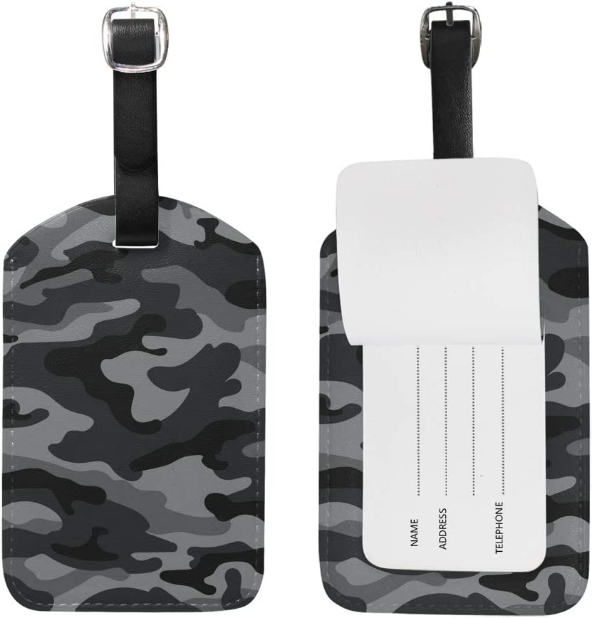 Camouflage Cruise Luggage Tag For Travel Bag Suitcase Accessories 2 Pack Luggage Tags