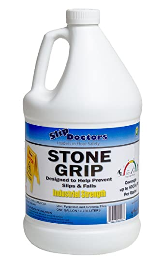 Amazoncom Slippery Patio Tile Or Kitchen Floors Treatment Gallon - Tile floor slippery after cleaning