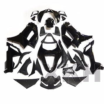 XKH grupo plástico ABS negro brillante embellecedores carrocería para 2007 - 2008 Kawasaki Ninja ZX6R 636: Amazon.es: Coche y moto