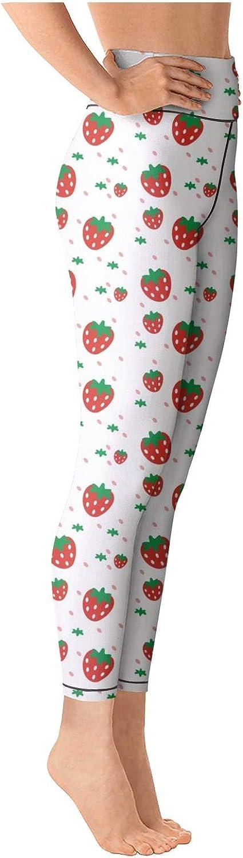 Yoga Leggings for Womens Strawberry Festival Strawberry Print red High Waist Sports Yoga Pants