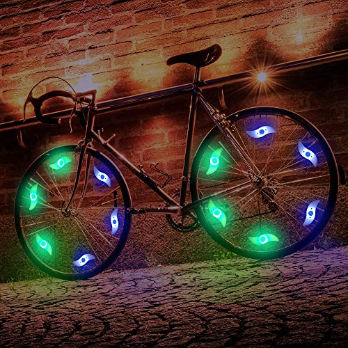 MACYWELL Bike Wheel Lights,6 Pack LED Bike Spokes Lights Easy to Install Colorful Bike Spoke Decorations with 6 Replaceable Batteries