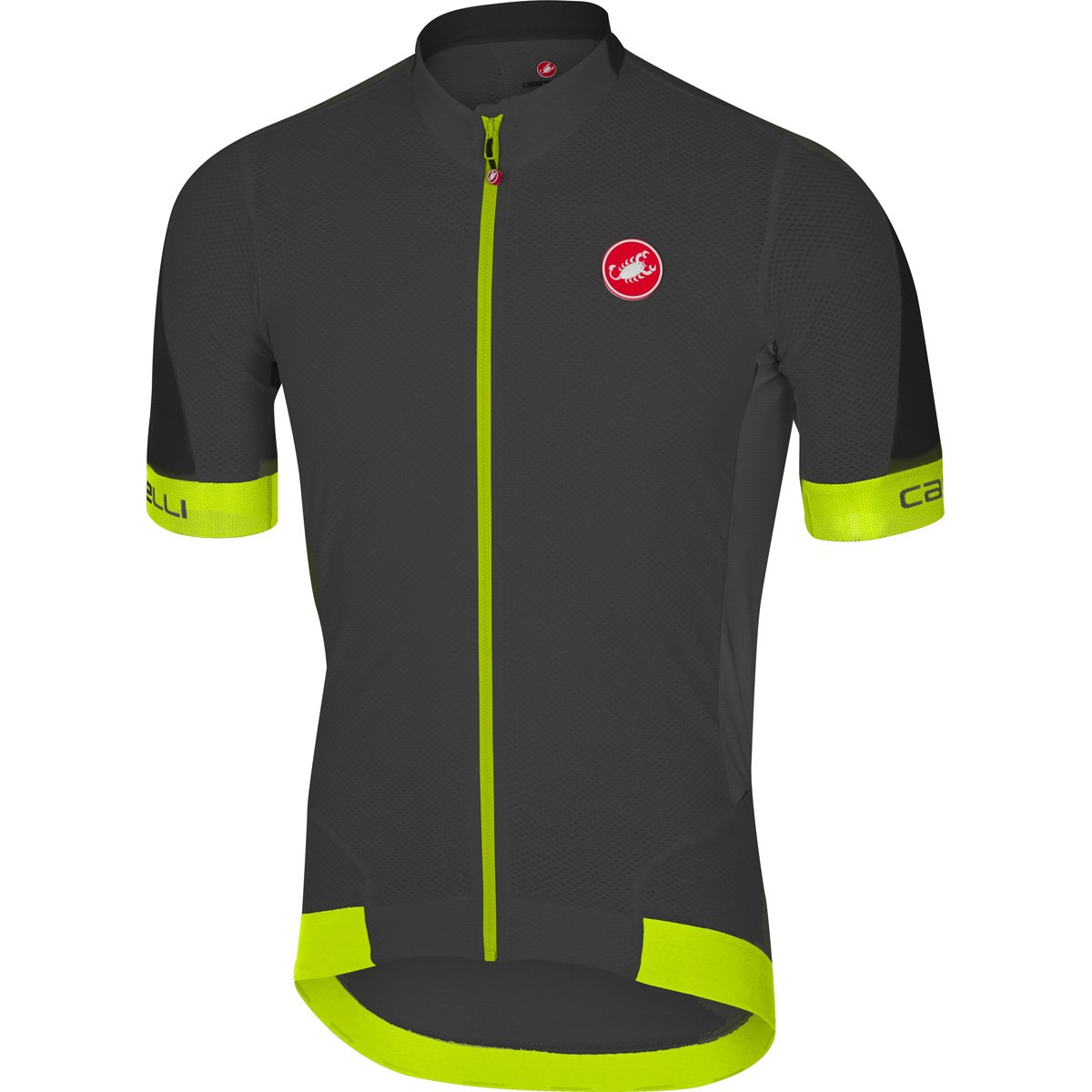 CastelliメンズVolata 2 Bike jersey fz B06XD512YC Medium|Anthracite/Yellow Fluo Anthracite/Yellow Fluo Medium