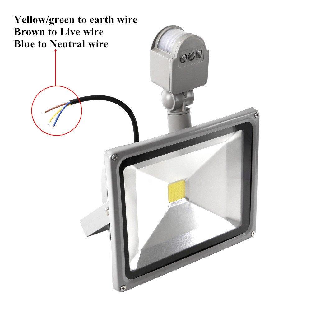 Motion Sensor LED Flood Light with PIR 30W Super Bright Outdoor ...