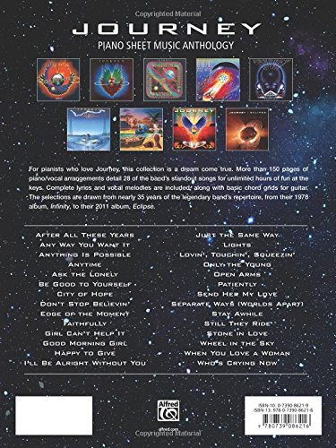Journey Piano Sheet Music Anthology Pianovocalguitar Journey