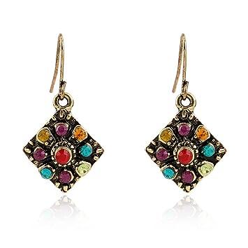 MenS sterling silver earrings personality retro ear jewelry dangler eardrop