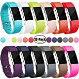 Maledan Replacement Accessories Bands (12 pack) for Fitbit...