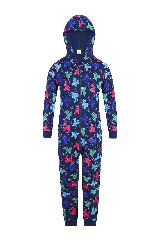 Color Morado The PyjamaFactory Pijama de 100/% algod/ón con dise/ño de Unicornio