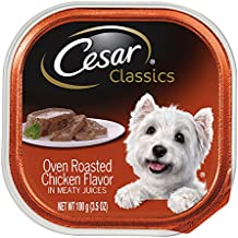 CESAR CLASSICS Oven Roasted Chicken Flavor in Meaty Juices Dog Food Trays 3.5 Ounces (Pack of 24)