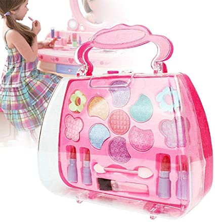 Amazon Com Christmas Gift Toy Kids Girls Makeup Set Eco Friendly Cosmetic Pretend Play Kit Princess Toy Gift Arrive Before Christmas Health Personal Care