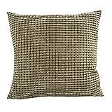 KMG Square Pillow Case, Kimloog 18x18 Solid Color Corduroy Corn Striped Decoration Pillow Cushion Cover
