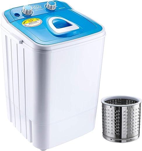 DMR Single Tub 46-1218 Washing Machine with Steel Dryer Basket (4.6 kg, Blue)