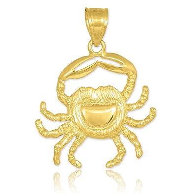 Amazon 10k yellow gold crab charm cancer zodiac pendant jewelry 10k yellow gold crab charm cancer zodiac pendant aloadofball Choice Image