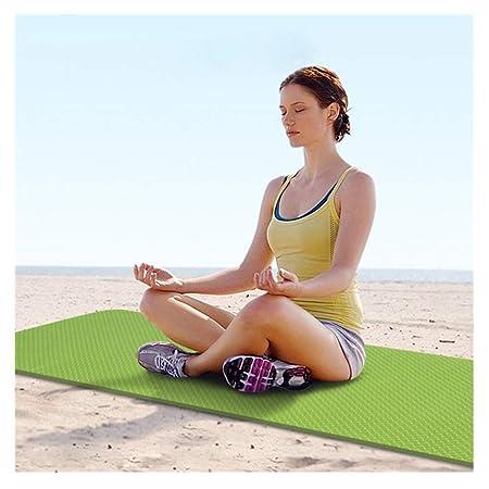 LWBUKK Estera de Yoga Antideslizante TPE más Engrosamiento ...