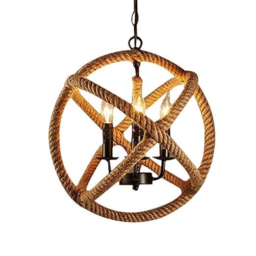 Amazon.com: jinguo iluminación ajustable Twine Cuerda Globe ...