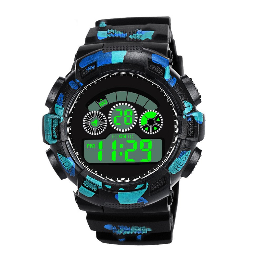 Zaidern Mens Digital Watches,Men's Watch Luxury Sport Analog Quartz LED Watches Classical Military Army Sports Waterproof Silicone Band Round Dial Wrist Watches On Sale