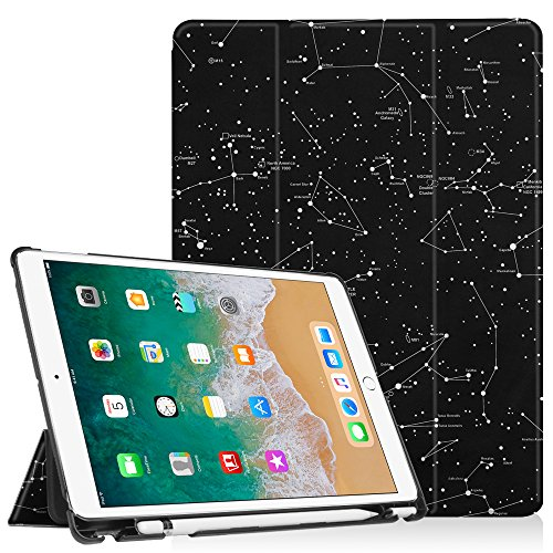 Fintie Case with Built-in Apple Pencil Holder for iPad Air 10.5 (3rd Gen) 2019 / iPad Pro 10.5 2017 - [SlimShell] Ultra Lightweight Standing Protective Cover with Auto Wake/Sleep, Constellation