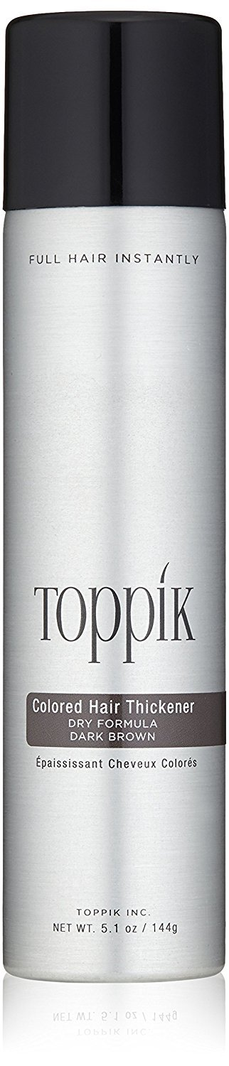TOPPIK Colored Hair Thickener, Dark Brown, 5.1 oz.