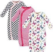Touched by Nature Unisex-Baby Organic Cotton Kimono Gowns