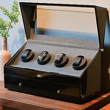 Reloj Clasico - Expositor para 4 + 6 Relojes para una Reloj con schweigsam Motor Lujo Fibra Reloj beweger, [100% Mano], 14: Amazon.es: Hogar