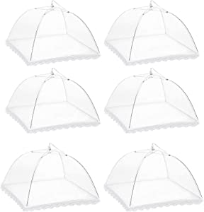 6 Pack Mesh Food Cover Tents by Winknowl, Reusable and Collapsible Large 17