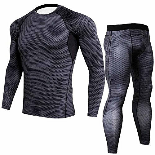 (Preferential New Zlolia Man Workout Fitness Sports Gym Running Yoga Athletic Shirt Top Pants Sets Quick-Drying)