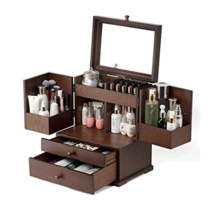 6fe61967a112 Amazon.com: SNH-Box Wooden Cosmetic Organiser Large Capacity Multi ...