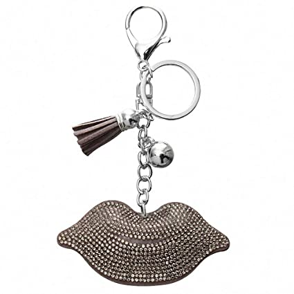 Amazon.com  Womens Fashion Sexy Lips Keychain Bag Charm Pendant Keys Holder  Keyring Jewelry for Women Girl Gift Gold Silver Keychain Jewelry New  FT138A  ... ab7e91a237