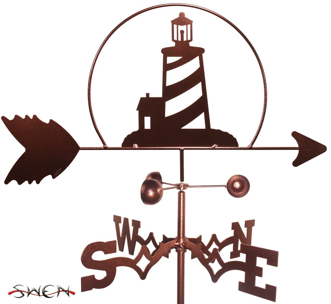 SWEN Products Hand Made Lighthouse Nautical Garden Stake Weathervane ~New~
