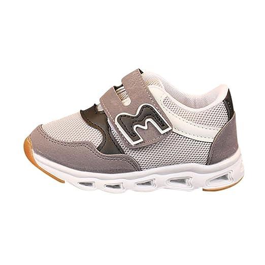 LED Zapatos de Verano Xinantime Zapatos de niños Zapatos de Malla de la Letra Zapatillas Luminosas