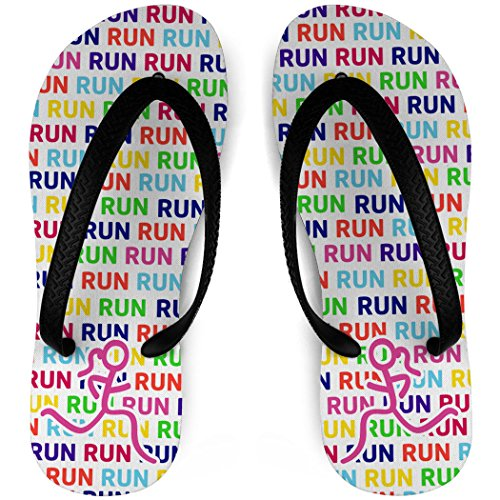 Flip Flops En Cours Dexécution Run Run Stick Figure Blanc