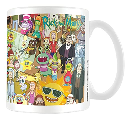 Pyramid International Rick and Morty Characters Coffee Mug ...