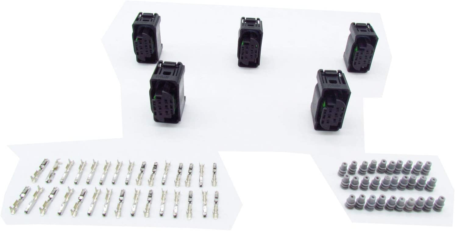 CNKF 5 Sets 6 way tyco Accelerator pedal connector includes terminals and seals for BENZ,BMW 1-967616-1