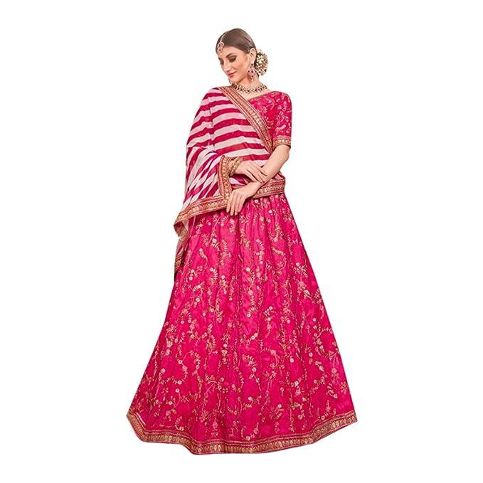 Amazon.com: Estilo Bollywood Rosa Designer Phantom Seda ...