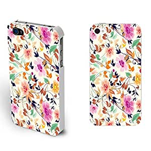 Colorful Florals Pattern Hard Case Cover for Iphone 4 4s