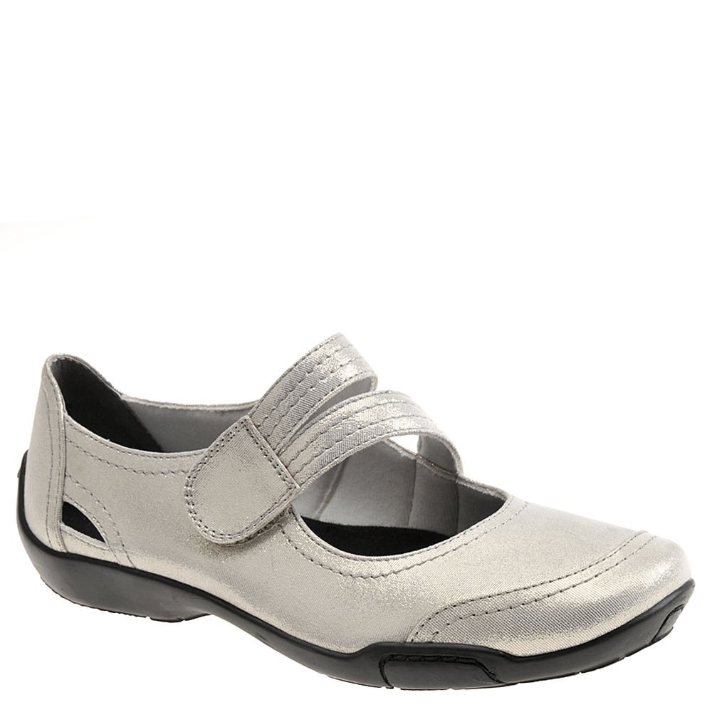 Ros Hommerson Chelsea Mary Jane Women's Slip On Shoes B078YDD448 11 B(M) US|Silver/Leather